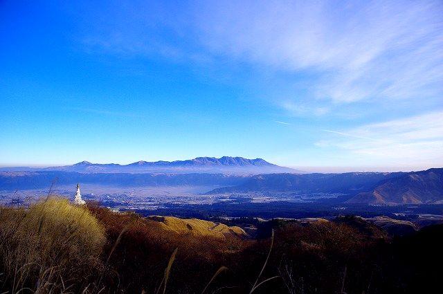 仙酔峡から見たくじゅう連山