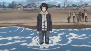 海に向かう優一郎