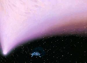 ハレー彗星の傍でワープアウトしたヱクセリヲン