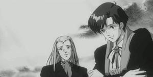 カシワラ校長とアマノ中佐