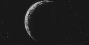 真っ暗な地球
