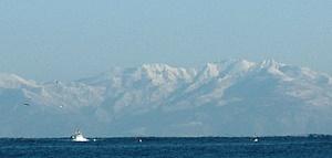 冬の石狩湾