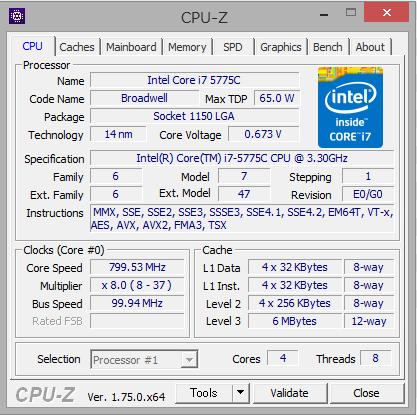 Core i7 5775C CPU-Z