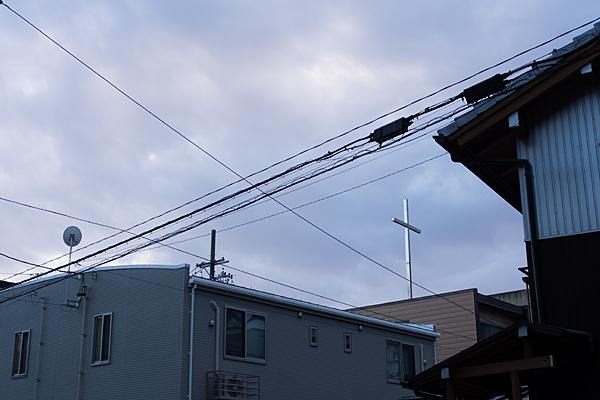 街の十字架