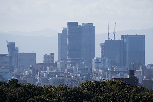 建設中の名古屋駅ビル群