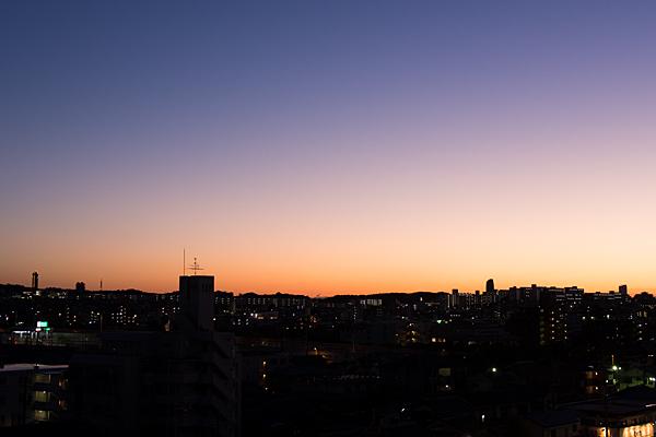 東山方面夕暮れ