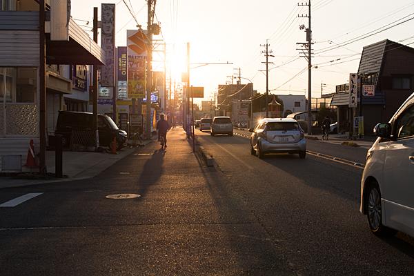 夕焼け街並み
