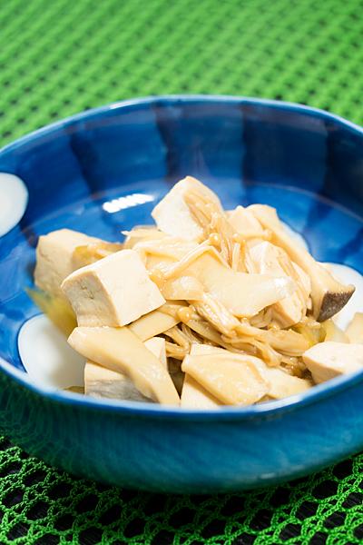 豆腐とキノコ炒め