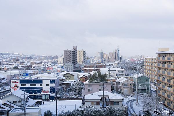 雪の街並み