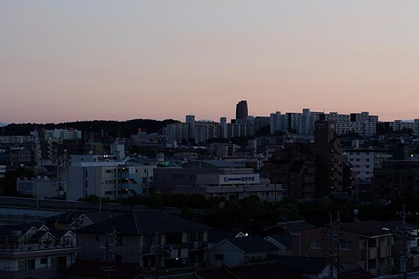 夕焼け東山方面