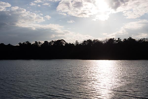 牧野が池夕景