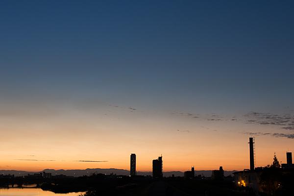 庄内川の夕焼け