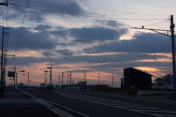 松川橋夕景