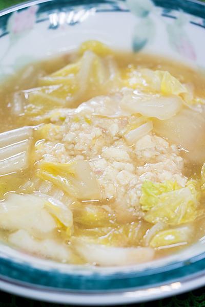 豆腐団子とコンソメスープ