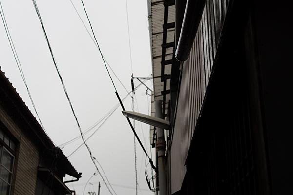 町並みと街灯