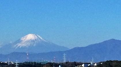 2016年元日の富士山