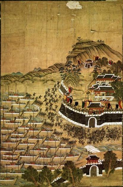 文禄の役『釜山鎮殉節図』