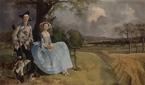 アンドルーズ夫妻像 1748-49頃 (トマス・ゲインズバラ)