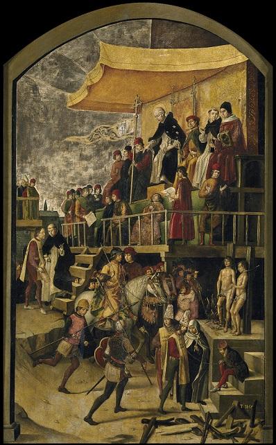 スペイン異端審問の様子を描いた絵