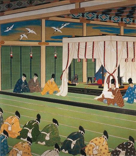聖徳記念絵画館壁画「廃藩置県」(小堀鞆音(ともと)画)