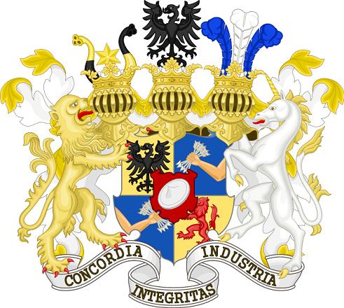 ロスチャイルド家(ロートシルト家)の紋章