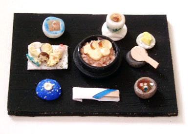 松茸入りの釜飯定食