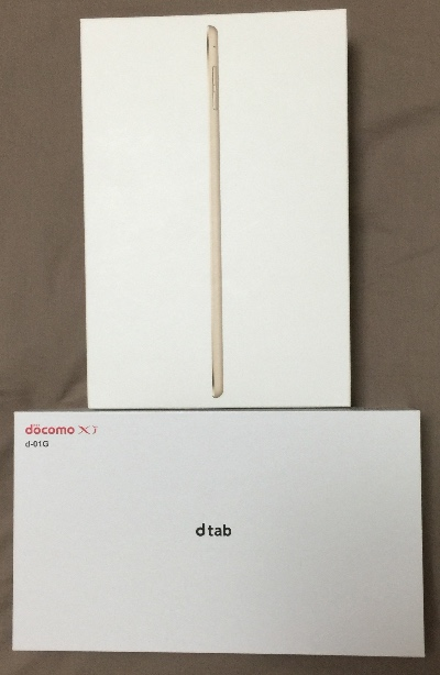 iPad mini 4とdtabがセットで新規21,600円 維持費も月額それぞれ59円、950円と安くてお得
