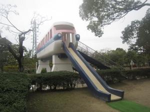 岡崎南強化 電車滑り台
