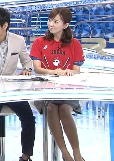 内田嶺衣奈 机の下のミニスカ美脚キャプ画像(エロ・アイコラ画像)