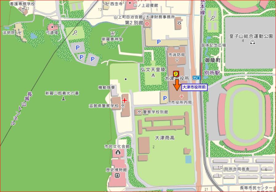弘文天皇陵地図