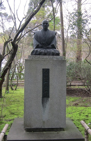 石田三成像 龍潭寺