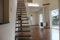 こだわりスケルトン階段