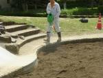砂場、殺菌消毒