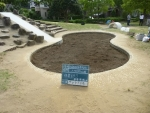 砂場清掃、作業終了