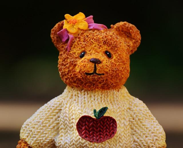 セーターを着た クマ
