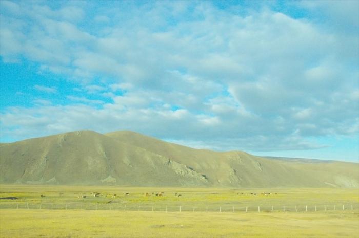 モンゴルの車窓からの景色 (1)