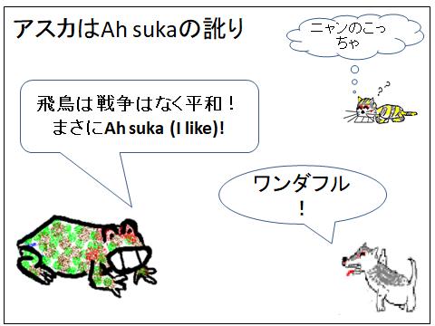 アスカはAh sukaの訛り(マンガ絵)