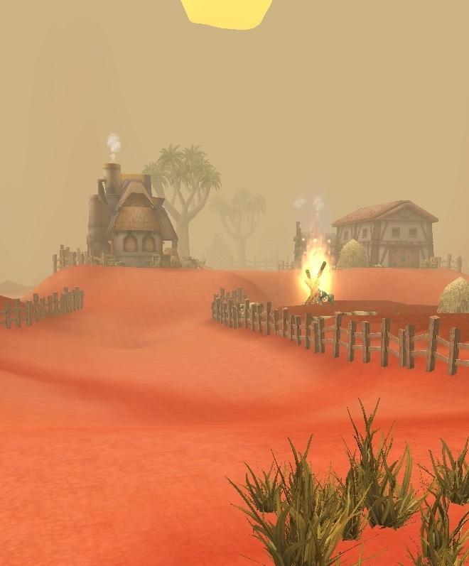 GFブログ(W10)用175A2 GFの風景・赤い尾根 村1
