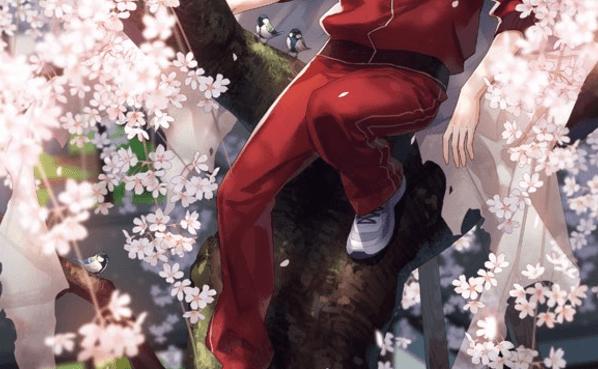刀剣乱舞公式描き下ろし山姥切国広イラストに桜吹雪を追加してみた