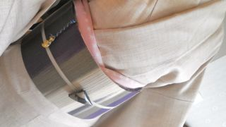 白鳥紬に段の帯