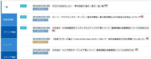 「投信ブロガーが選ぶ! Fund of the Year 2015」三井住友アセットマネジメントからのお知らせ
