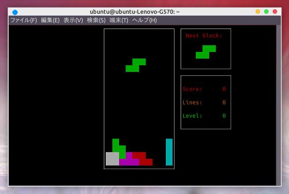 Bastet Ubuntu テトリス クローンゲーム