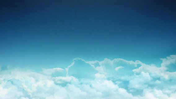 Clouds Ubuntu 壁紙 雲海 青い