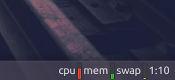 xfce4-systemload-plugin Ubuntu パネル CPU メモリ 使用率