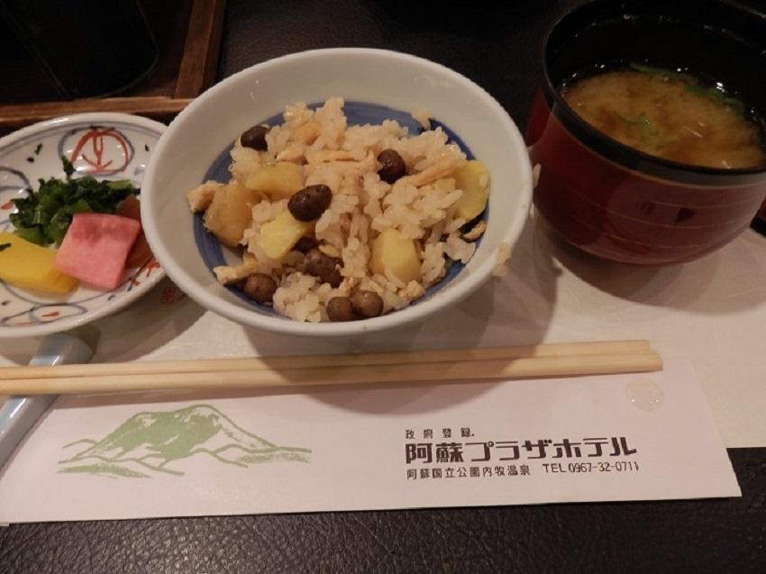 阿蘇プラザホテル 夕食メニュー